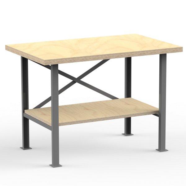 profi werkbank 125 160 cm multiplex platte 40mm massiv. Black Bedroom Furniture Sets. Home Design Ideas